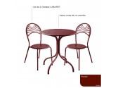 Table AGORA1 Ronde 600- lilas