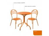 Table AGORA1 Ronde 600- turquoise
