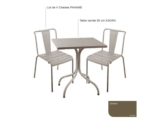 Table RIVIERA 4 Ronde 700- anthracite