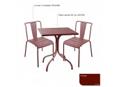 Table RIVIERA 4 Ronde 700- ivoire
