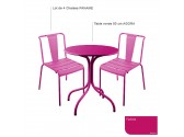 table RIVIERA 4 ronde- lilas